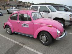 Pink VW Beetle.......