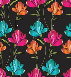 Vector Flowers, Botanical Flowers, Pichwai Paintings, Wall Stencil Patterns, Floral Pattern Vector, Hand Painted Fabric, Flower Wallpaper, Watercolor Illustration, Colorful Flowers