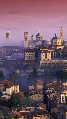Bergamo, Italy - Scenery is so breathtaking, whether in the country or in the city.