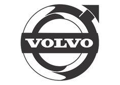 Vector logo download free: Volvo (Design Black White) Logo Vector