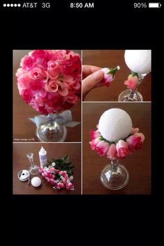 This would be beautiful in Coral-My Wedding Color!    DIY Rose Centerpiece