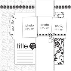 This week's inspiration is from the fabulous Page Maps archive of sketches. Scrapbook Layout Sketches, Scrapbook Templates, Card Sketches, Scrapbooking Layouts, Scrapbook Cards, Digital Scrapbooking, Scrapbook Photos, Page Maps, Photo Sketch
