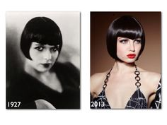 The Great Gatsby revived the blunt bob that Louise Brooks made popular in the 20s.