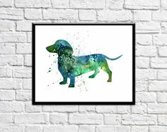 Dachshund Wall Art purple world map large world map decor world map art a1 poster