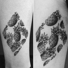 Blackwork+Pineapple+Tattoo
