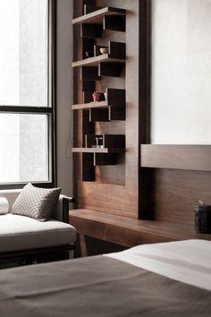 Wooden bedroom wall