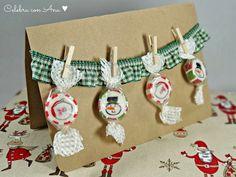 Tarjetas de Navidad en Kraft