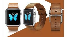 Apple Watch 42mm Brown leather band #applewatch #ontario #toronto #leatherband by thefuturestorecanada
