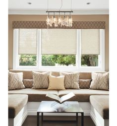 Classic Roller Shades - Shows valance at top - Smith+Noble