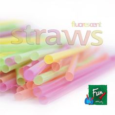 Straws make it taste better! Agree? 👍 Add a pop of neon to any occasion with our range of fluorescent straws! #funthebrand #straws #party #fun #occasion #neon #flourescent #colourful #instapic #instagood #instalike #instalove #instadaily #bestoftheday #picoftheday #photooftheday #tagsforlikes