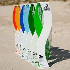 Ok-gold coast marathon custom trophy awards - 2011 Directional Signage, Wayfinding Signage, Park Signage, Custom Trophies, Glass Trophies, Kiosk Design, Signage Design, Booth Design, Environmental Graphics