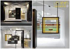 Simplicidade loja de cupcakes, vitrine e espaço clean