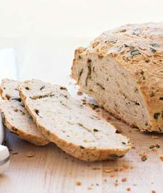 Basil Beer Bread - Grated Parmesan, fresh basil, and ale infuse this dense, hearty bread with surprising flavors.