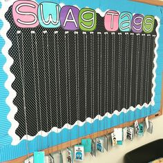 Totes loving our Swag Tag display!! We rock our swag every Friday!!! Do you use brag tags in your class?