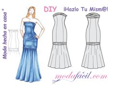 Free download patterns cut dress Bridesmaid available in 10 sizes