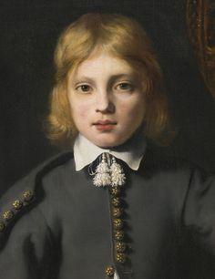 Ferdinand Bol DORDRECHT 1616 - 1680 AMSTERDAM PORTRAIT OF A BOY, SAID TO BE THE ARTIST'S SON, AGED 8(detail)