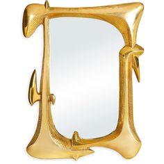 Jonathan Adler Reform Mirror featuring polyvore home home decor mirrors brass jonathan adler jonathan adler home decor brass mirror brass home decor brass wall mirror