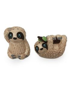 Update your home with a gentle reminder to take your time during meals with this set of playful sloth salt and pepper shakers. Includes salt shaker and pepper H x diameterEarthenwareHand washImported Salt N Pepper, Salt Pepper Shakers, Ceramic Pinch Pots, Morton Salt, Mini Washing Machine, Teal Kitchen, Red And Teal, Cute Mugs, Gifts For Family