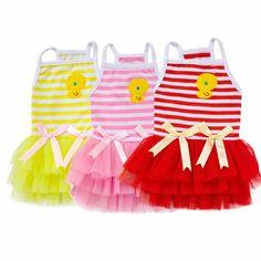 Sweet Chick Stripes - K.K. dog tutu dress collection