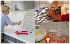 Nemusíte investovať stovky eur do výmeny dlažby v kúpeľni či kuchyni. Máme pre vás pár perfektných nápadov, ako získať úplne nový vzhľad bez výmeny dlažby. Kuta, Home Hacks, Wall Tiles, Flooring, Kitchen, Free Time, Cupcake, Clever, Board