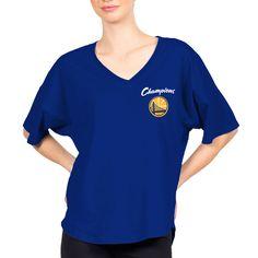 67796069b18 Golden State Warriors Fanatics Branded Women s 2018 NBA Finals Champions  Quadruple Double Spirit Jersey V-Neck T-Shirt – Royal