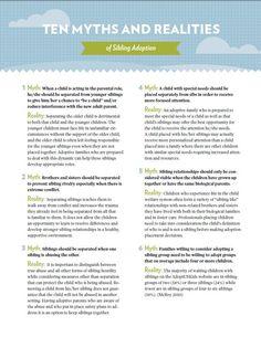 Ten Myths and Realities of Sibling Adoption #NAM14 #adoption