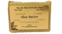 Indulge yourself with Pure Artisan Shea Butter hypoallergenic soap. Ideal for daily use, this blend of Coconut Oil and Shea Butter will treat any dry skin, blemishes, skin discoloration, scars and wri