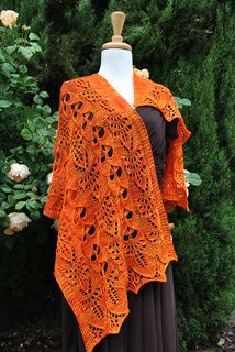 California poppy rectangular shawl by Lidia Tsymbal Knit with 2 skeins Baah La Jolla fingering weight yarn Hand Knitted Sweaters, Knitted Shawls, Crochet Shawl, Knit Crochet, Lace Shawls, Knitted Scarves, Lace Knitting Patterns, Shawl Patterns, Knitting Designs