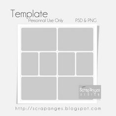 free 12x12 digital project life photo template from Scrap'Anges
