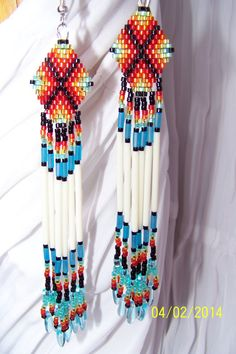 Native+American+Fringe+Earrings+by+NavajoRainbowDesigns+on+Etsy,+$28.00