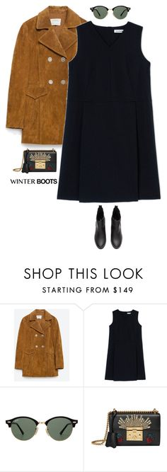 """So Cozy: Winter Boots"" by beachkidwithdirtyvans ❤ liked on Polyvore featuring Zara, Jil Sander, Ray-Ban and Gucci"