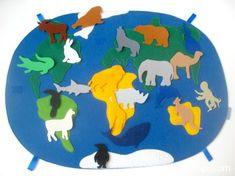 карта мира из фетра силуэты 5