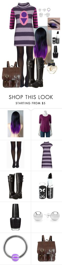 """""""victoria ~ heroes vs. villains (tak from invader zim)"""" by zoemund ❤ liked on Polyvore featuring Apt. 9, Tobi, Twin-Set, Harley-Davidson, OPI, Pori and Aéropostale"""