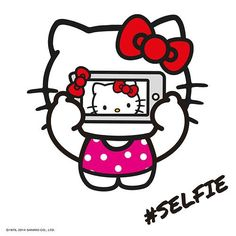 Hello Kitty selfie If I was as adorbs as  HK I'd spend all day taking selfies.