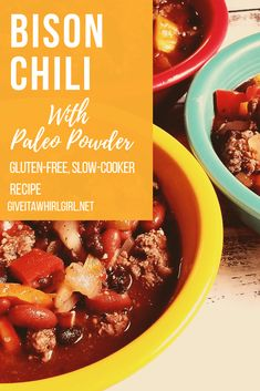 Bison Chili RECIPE W
