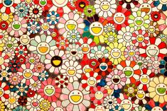 "TAKASHI MURAKAMI, ""When I close my eyes, I see Shangri-la"", 2012. Acrylic on canvas mounted on board, 78 3/4 x 78 3/4 inches (200 x 200 cm)."
