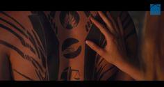 DIVERGENT trailer: Tris touches Four's back tattoo
