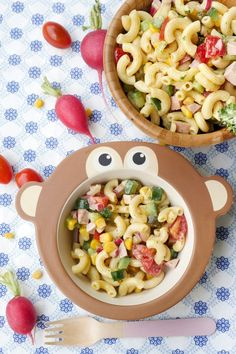 The best pasta salad for kids (with fast milk mayonnaise) - rezepte Pasta Salad For Kids, Salads For Kids, Best Pasta Salad, Healthy Eating Tips, Clean Eating Recipes, Healthy Snacks, Healthy Kids, Healthy Recipes, Baby Food Recipes