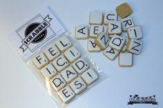 scrabble cookies packaging by Oscar y Carolina Blog