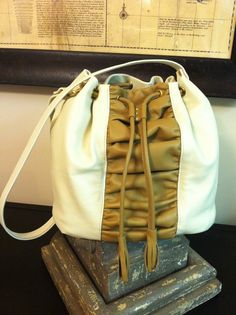 Scigliano's bucket bag....Handcrafted Leatherwork info at www.facebook.com/SciglianoDesigns