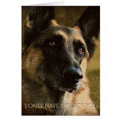 Beautiful German Shepherd Valentine's Day Card