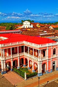 The colorful, colonial city of Granada, Nicaragua. Granada is a Nicaraguan city on the shores of Lake Nicaragua. It's home to multiple Spanish colonial landmarks that have survived repeated pirate invasions. The city's main plaza, Central Park, is dominated by the colorful, neoclassical facade of the Cathedral of Granada, originally dating to 1583. The Centro Cultural Convento San Francisco nearby is famed for its displays of pre-Columbian statues. (V)
