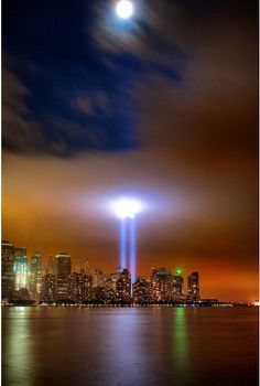 9/11 Tribute Lights. Portal to Forget? Portal to Remember?  If we forget - Portal to Where?