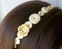 Vintage+Button+Headband+#howto+#tutorial