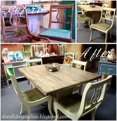 Driftwood-Look Table & Chairs