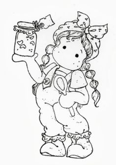 Bilderesultat for tilda stempel jul Colouring Pics, Coloring For Kids, Coloring Books, Magnolia Colors, Karten Diy, Adult Coloring Book Pages, Black And White Drawing, Marker Art, Penny Black