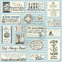 Nautical Sayings Paper