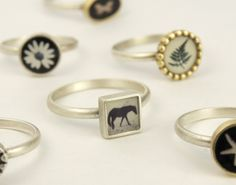 I love to make and wear my little photo rings. Great for stacking with plain bands.