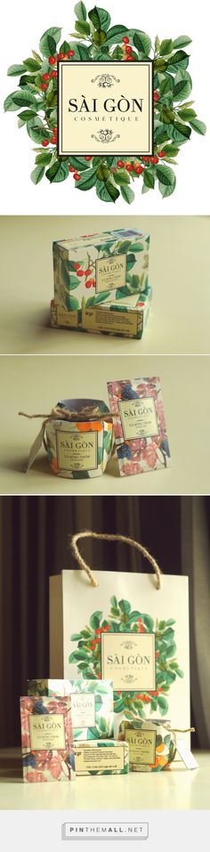 Packaging design project for SaiGon Cosmétique. #Branding, graphic design and packaging