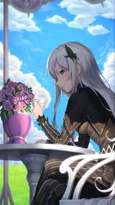 Anime Girl Cute, Anime Art Girl, Manga Girl, Fanarts Anime, Manga Anime, Kawaii Anime, Re Zero Wallpaper, Anime Titles, Echidna